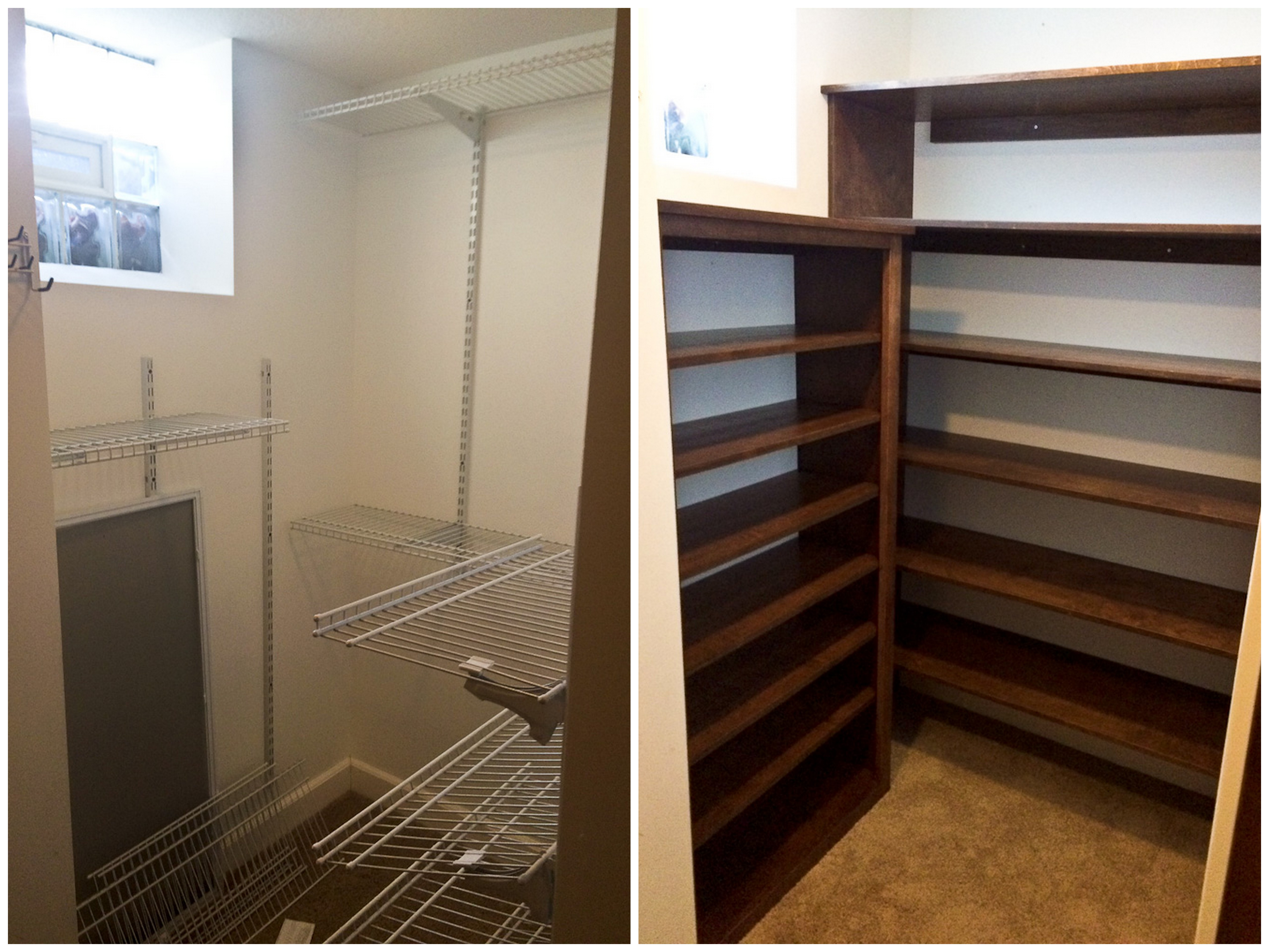 Excellent A Better View Of The Shoe Shelves Clean And Empty Closet C With